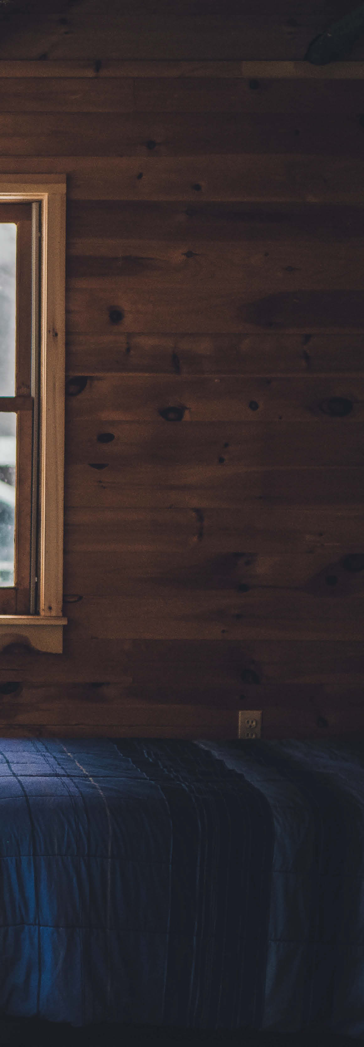 wood cabin walls
