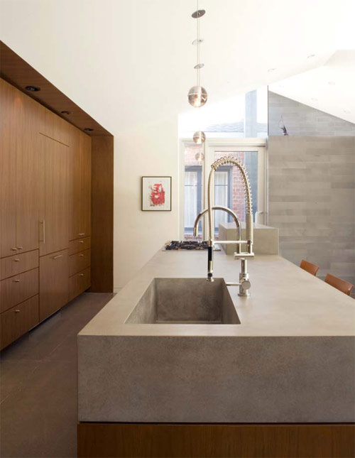 URBAN Concrete Design created this clean modern kitchen countertop design.