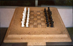 Concrete Chess Board created by Urban Concrete Design