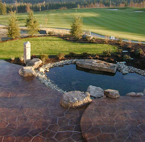 Concrete Water feature on a golf course