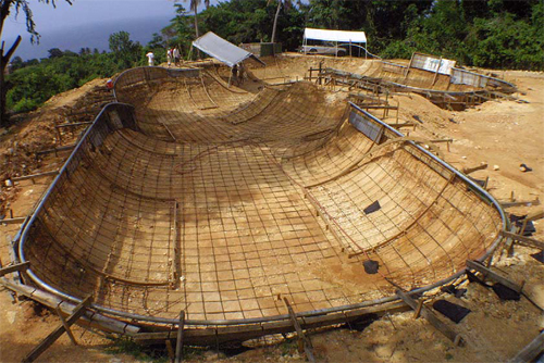 Construction of a skatepark in Puerto Rico