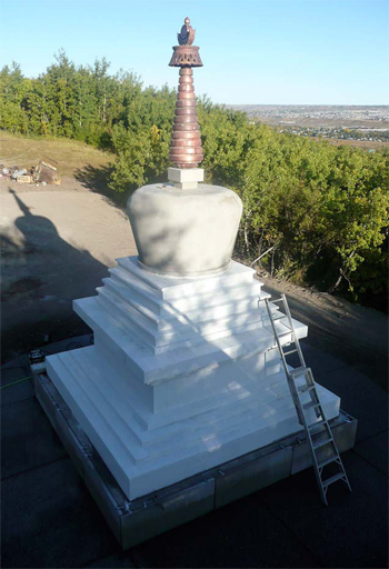 A concrete stupa - Photos courtesy of Renaissance Concrete Design - A stupa is one of the most venerable icons in Buddhism. It's a structure steeped in symbolism, and building or maintaining one is said to bring a person close to enlightenment.