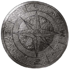 Increte Systems Inc. - Compass Star - The first in a new line of custom stamping tools from Increte Systems Inc., the Compass Star can provide a distinctive enhancement for a long list of residential and commercial applications, such as patios, marinas, malls, restaurants and specialty stores. The Compass Star measures 47 1/2 inches in diameter.