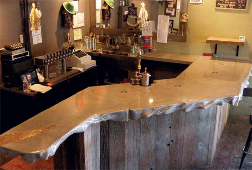 """Boinich got so excited about the prospects of replacing the 17-foot-long wooden top with GFRC concrete that he agreed to do it for, in his words, """"a thousand bucks in beer and a couple thousand in materials."""""""