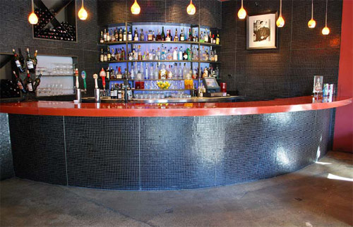 Walk into Dewz Restaurant in Modesto, Calif., and your eyes will immediately land on the lush, glossy, reflective red hue found on the bar and tabletops