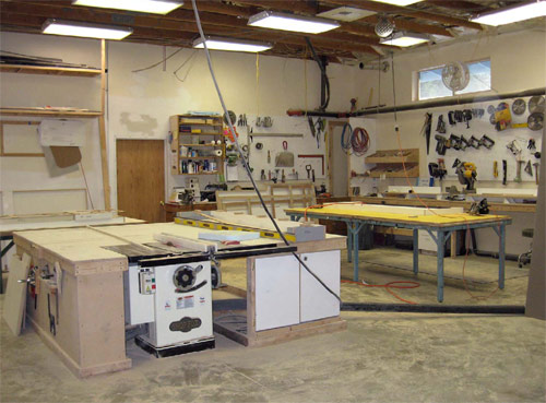 A place for everything and everything in its place: This fabrication shop was set up by Tommy Cook.