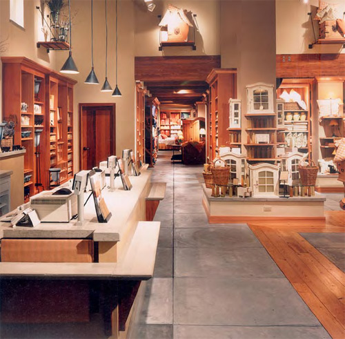 Buddy Rhodes installed decorative concrete in Pottery Barn locations nationwide.