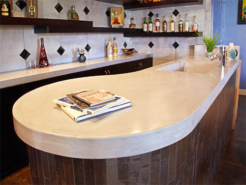 CK Concrete Design of St. Louis gives clients written instructions that say how to avoid damaging curing countertops, plus how to clean and protect them.
