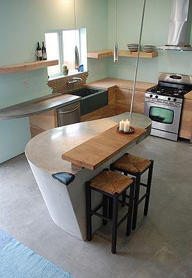Best Kitchen DC Custom Concrete San Diego, Calif.