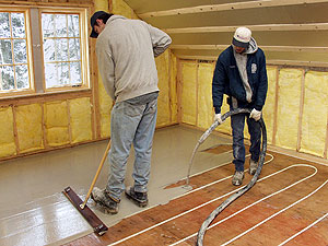 A radiant heating installation for a home in Santa Fe, N.M. The radiant tubing is Watts Radiant Onix.