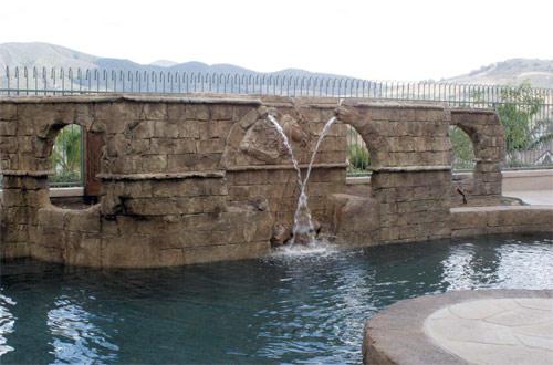Roman aqueduct decorative concrete project