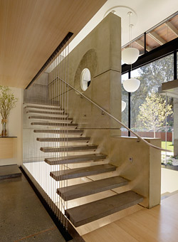 cantilevered stair design
