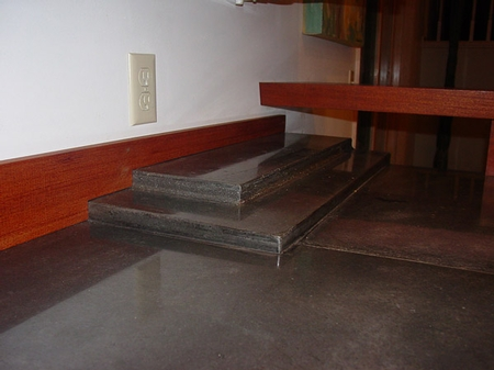 concrete is a versatile product seen here in a living room