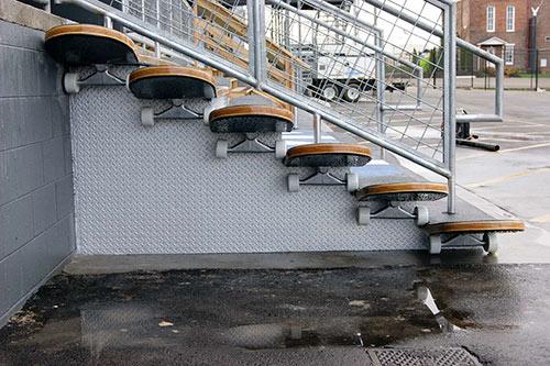 Side view Concrete Stairs Skateboard Shape Nashville Rocketown Concrete Decor Show 2011