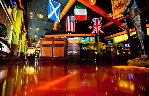 Stained, Over 1,500 Square Feet, 1st Place: Hyde Concrete, Annapolis, Md., for Tilted Kilt Pub & Eatery