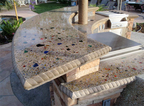 Countertops, 1st Place: The Green Scene, Northridge, Calif., for Tiki Bar & Fire Pit