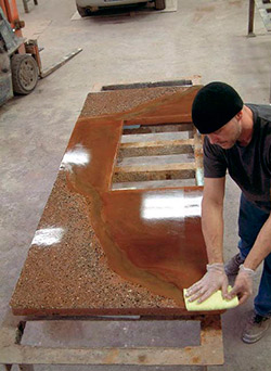 Applying Hydro Guard to concrete countertops provides durability and stain fighting.