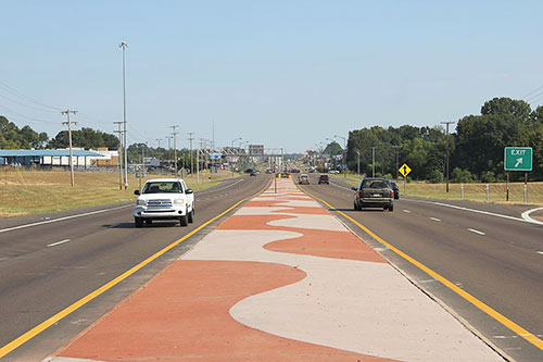Three year beautification project on Highway 80 Median in Jackson, Miss.