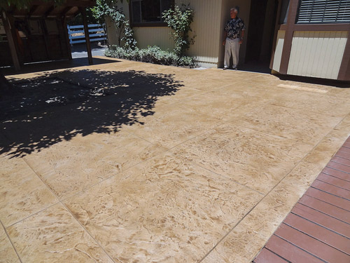 This Santa Rosa, Calif., patio was previously a series of concrete slabs and pavers. After the pavers were removed and new concrete was poured between the older slabs, Concrete Staples were used to join new and old. Photos courtesy of Allan Firestone
