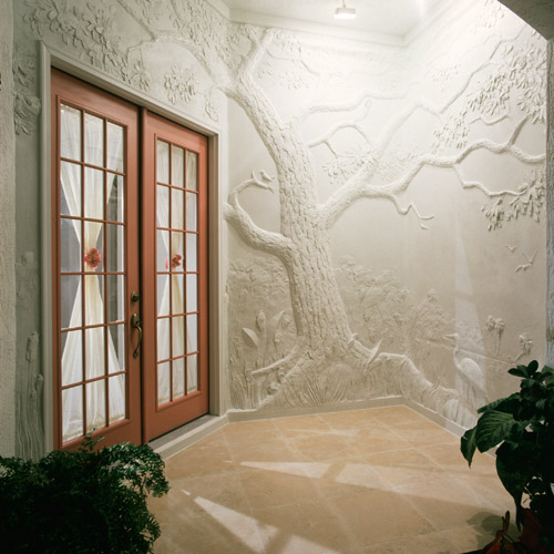 A mural David Seils created in the foyer of a house he owned in Osprey, Fla., a suburb of Sarasota