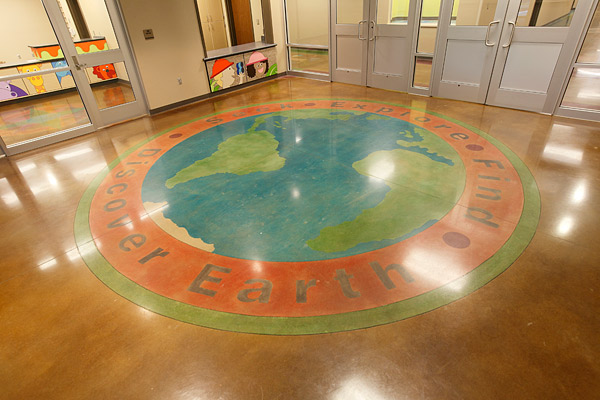 Polished Concrete and Colored Concrete World Map