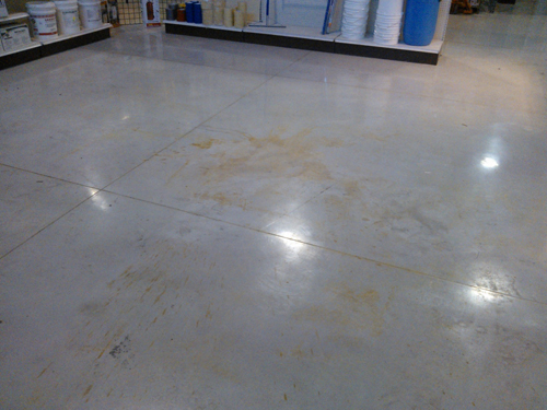 Here is a shot of the floor after the stain was spilled.