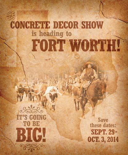 Fort Worth Concrete Decor Show Announcement